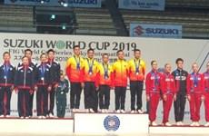 Vietnam wins three gold medals at international aerobics championship
