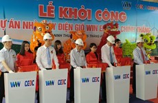 Chinh Thang wind power mill construction kicks off in Ninh Thuan
