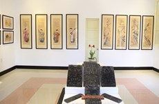 Exhibition spotlights traditional folk paintings