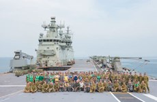 HMAS Canberra docks at Thailand's Patong for training, community activities