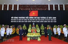 Condolences sent to Vietnam over former President Le Duc Anh's death