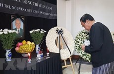 Respect-paying ceremonies held for former President in Myanmar, Netherlands