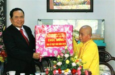 Front leader congratulates Buddhist dignitaries over Buddha's birthday