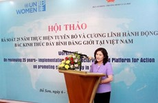 Rate of women parliamentarians in VN higher than global average