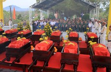 Memorial service for remains of soldiers repatriated from Laos