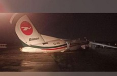 Myanmar: 11 injured as plane slides off runway