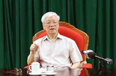 Party chief, President Nguyen Phu Trong chairs key officials' meeting