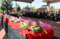 Dak Lak holds burial services for remains of martyrs found in Cambodia