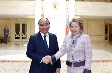 Prime Minister meets Russian upper house leader