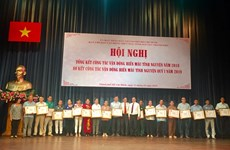 Outstanding blood donors honoured in HCM City