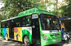 More eco-friendly buses to run on Hanoi streets