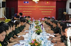 Vietnamese, Lao young military officers foster partnership