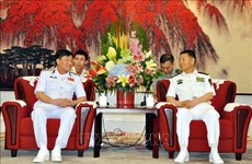 High-ranking naval delegation visits China