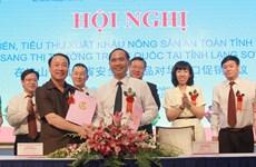 Son La boosts farm produce export to China