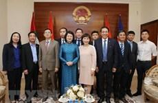Vice President visits embassy in UAE, meets Nakheel & Limitless leaders