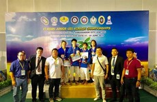 Vietnam wins two golds in Asian junior kurash championships
