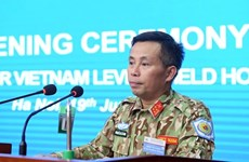 Training launched for staff of military level-2 field hospital No.2