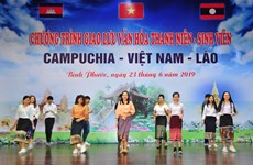 Vietnamese, Cambodian, Lao students enhance solidarity, friendship