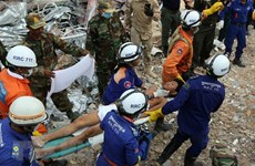 Cambodia supports victim of building collapse incident