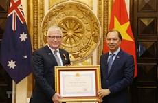 Friendship Order bestowed upon Australian Ambassador