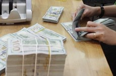 Reference exchange rate down strongly at week's beginning
