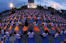Over 1,200 people join yoga performance in Da Nang city