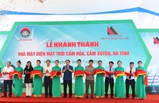First solar power plant inaugurated in Ha Tinh province