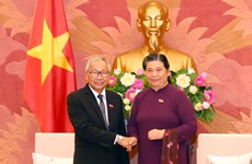 Officials of Myanmar's ruling party visit Vietnam