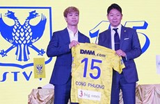 Striker Nguyen Cong Phuong signs deal with Belgian team