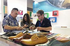 International leather and shoes expos open in HCM City