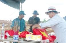 Remains of Vietnamese volunteer soldiers in Cambodia repatriated