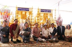 Embassy joins celebration of late Lao leader's birthday