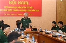 Preparations underway for ASEAN defence-military events in 2020