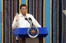 Philippine President vows to continue drugs, corruption fight