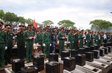 Binh Phuoc: Remains of fallen soldiers from Cambodia reburied