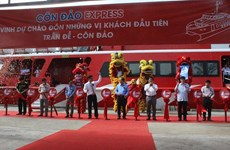 Vietnam's largest twin-body speedboat launched from Soc Trang to Con Dao