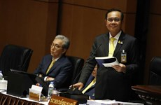 Thai PM presents government policy at parliament
