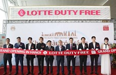 Lotte opens duty-free store at Noi Bai int'l airport