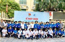 Hanoi's youths launch volunteer activities in Laos