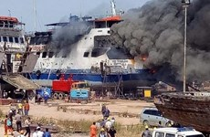 Indonesia: one killed, nine injured in shipyard fire