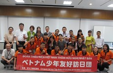 Vietnamese teenagers conclude friendship trip to Japan
