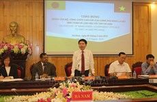 Bangladesh learns about administrative management in Ha Nam