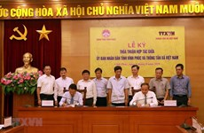 News agency, Vinh Phuc sign communication cooperation agreement
