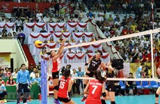 Vietnam wins second prize at VTV international women's volleyball tourney