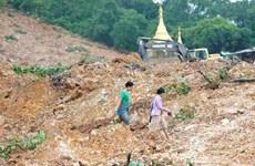 Death toll rises to 69 in Myanmar monsoon landslide