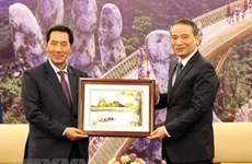 Lao NA Vice Chairman visits Da Nang