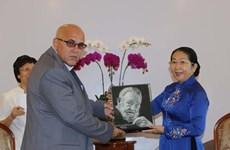 HCM City official receives Cuban guest