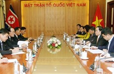 Front leader receives Chairman of DPRK's trade union agency
