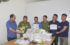 Dien Bien: three arrested for smuggling 50 kg of meth