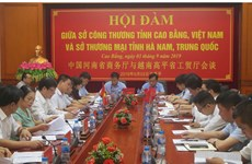 Cao Bang, China's Henan beef up trade cooperation